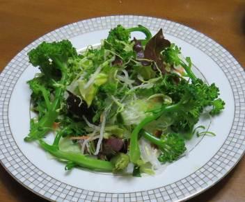 セルリーを使った生野菜サラダ