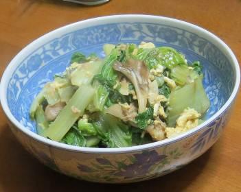 山東菜のどんぶり料理