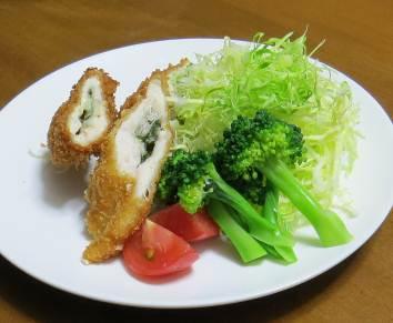 ブロッコリーと鶏肉フライ