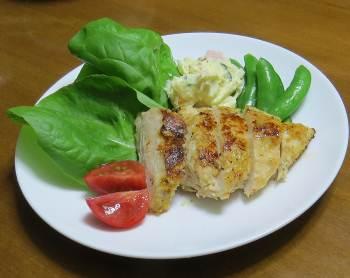 サラダナと鶏肉