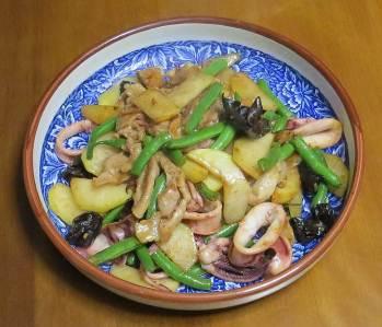コールラビの野菜炒め