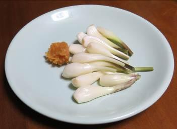エシャロットと味噌