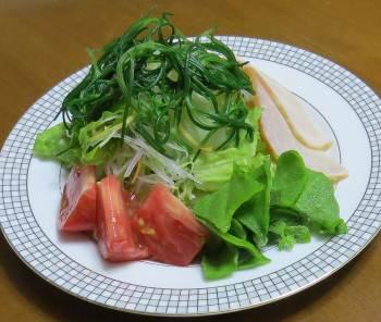オカヒジキ入りサラダ