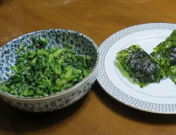 ダイコン葉と韓国ノリ