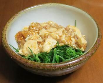 オカヒジキとマーボウ豆腐