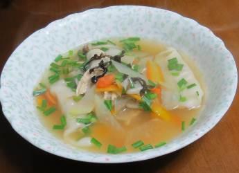 ニンジン入りスープ