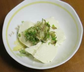 ミョウガと豆腐