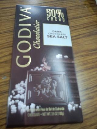 ゴディバの板チョコシーソルト20143