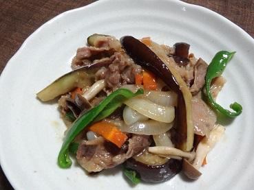 味付き牛肉でシャキッと野菜炒め2014年6月