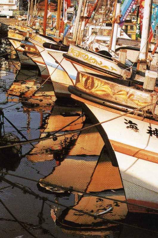元旦の船溜り(垂水漁港)