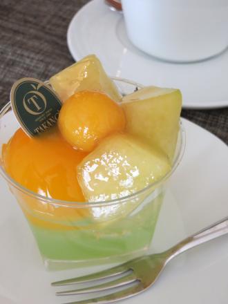 メロンとマンゴーのジュレ