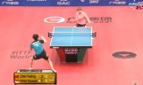 朱雨玲VS馮天薇(準々)クウェートオープン2014