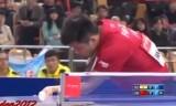 樊振東VSアチャンタ(準々)アジアカップ2014