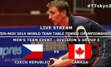 チェコVSカナダ 世界卓球2014(東京体育館)