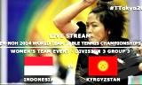 インドネシアVSキルギス 世界卓球2014(Jグループ)