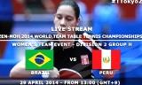 ブラジルVSペルー 世界卓球2014(Hグループ)