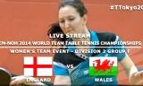イングランドVSウェールズ 世界卓球2014(Fグループ)