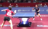 平野早矢香VS呉穎嵐(準決)世界卓球2014