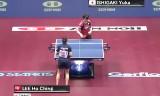 石垣優香VS李皓晴(準決勝)世界卓球2014