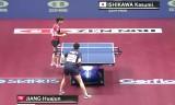 石川佳純VS姜華君(準決勝)世界卓球2014