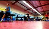 アメリカ卓球のトレーニング映像?