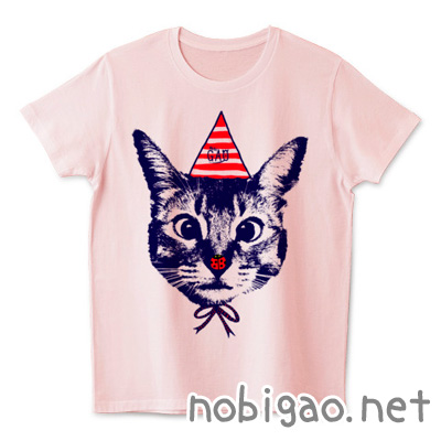 猫Tシャツ Nobigao てんとうむし猫