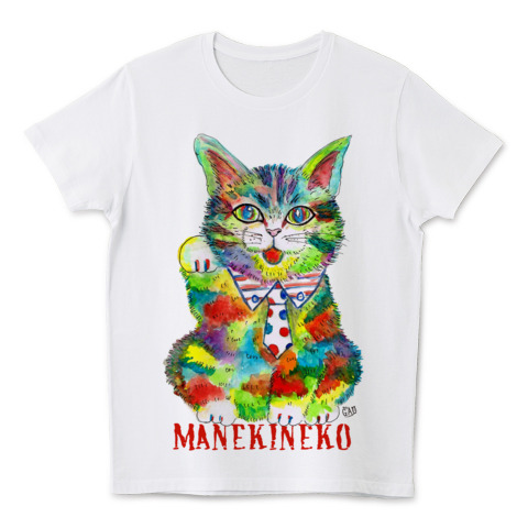 猫Tシャツ Nobigao まねきねこ