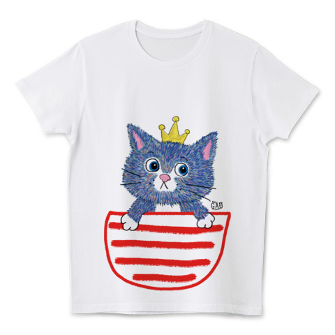 猫Tシャツ ねこのおうさま