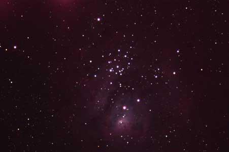 M20 いて座散光星雲(三裂星雲)
