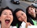 3人でon the way to downtown