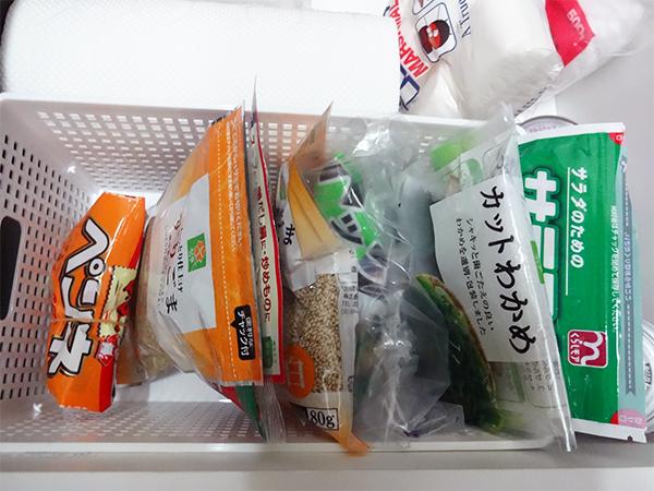 キッチン保存食品収納