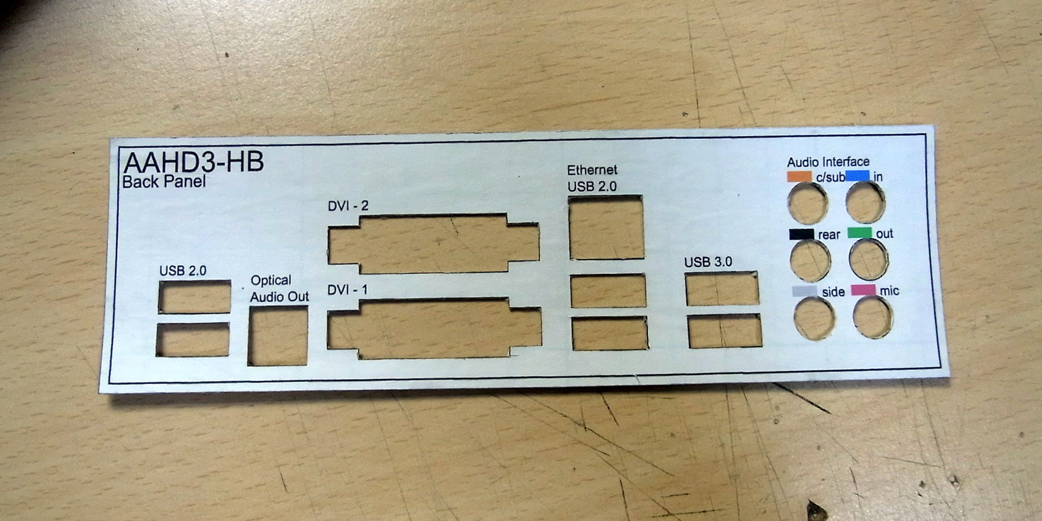 AAHD3-HB バックパネル 切り出し完了