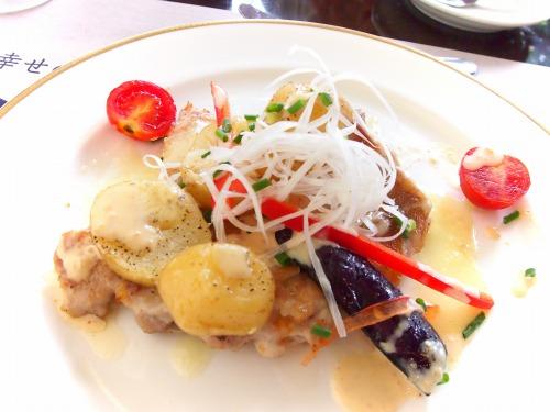 チキンのグリル 焼き野菜添え 2色ソース02@Bakery Restaurant Saint Marc 2014年07月23日