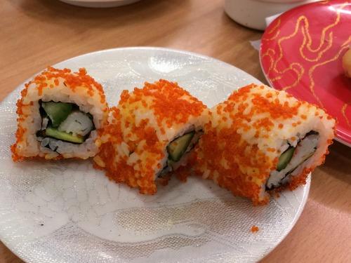 05カリフォルニアロール@魚卸回転寿司 ダイマル水産 2014年08月