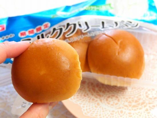 薄皮 ミルククリームパン02@ヤマザキ