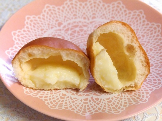 薄皮 ミルククリームパン03@ヤマザキ