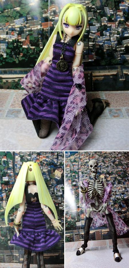 26_06_10 紫のボーダーワンピ