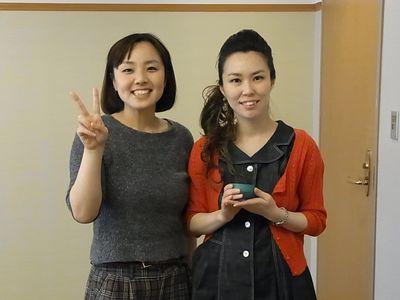 ソプラノの阿部妙子さんと師岡優子さん