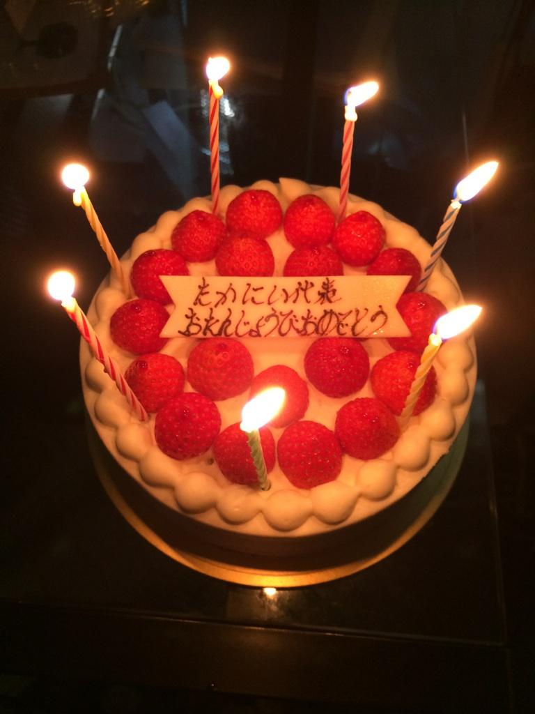 2014年41歳誕生日ケーキ1