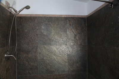 Stone Veneer Shower Wall