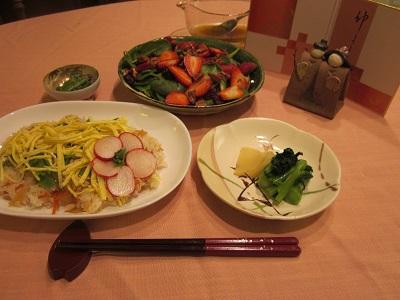 雛祭りの夕食