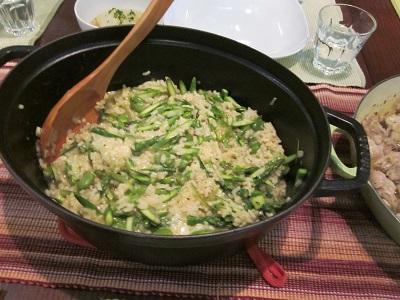春野菜のグリーンリゾット