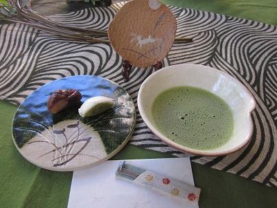 お菓子とお抹茶