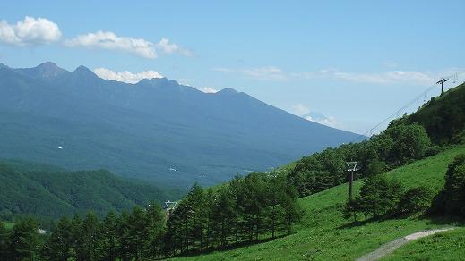 車山から富士山