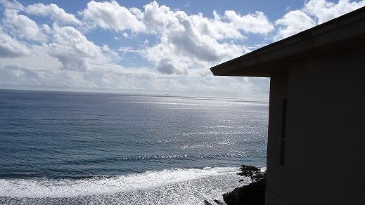 露天からの海