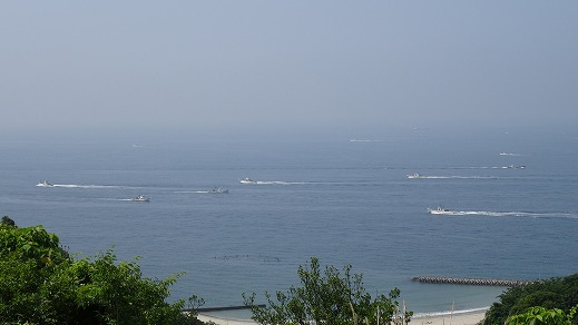 湯船から海1