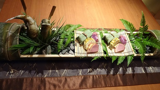 鮎などの前菜