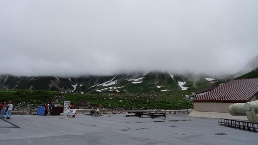ホテルからの山頂