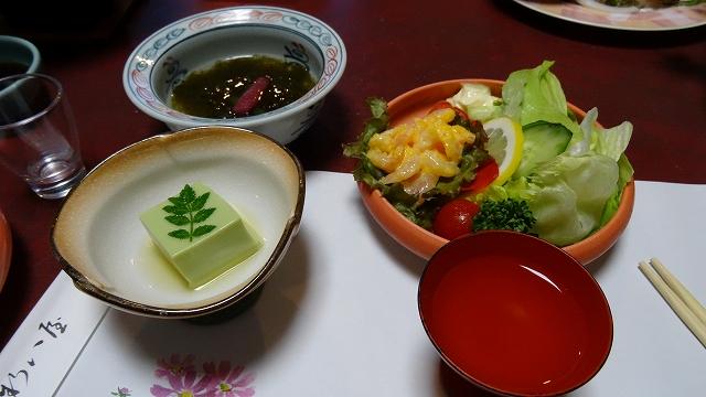 サラダ・もずく・豆腐