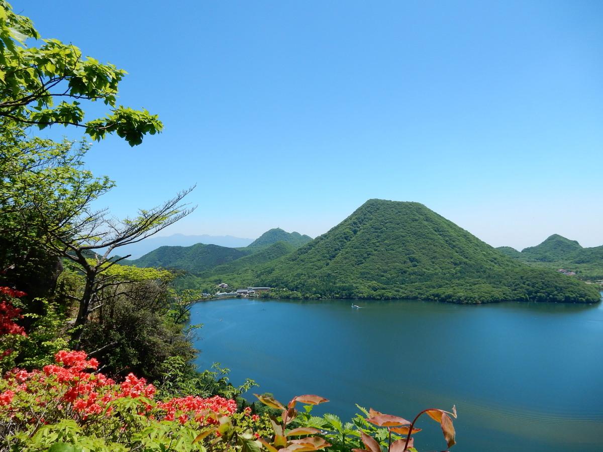 硯岩より榛名富士2